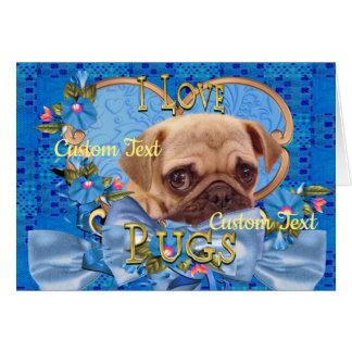 Cartão do amor do Pug, cartão para amantes de