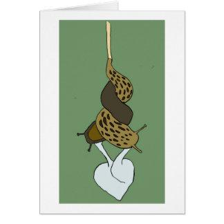 Cartão do amor do Slug do leopardo