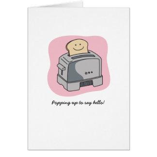 Cartão do amor do torradeira