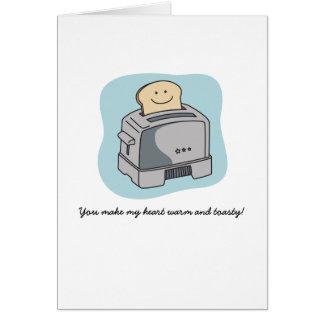 Cartão do amor do torradeira - azul