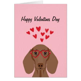 Cartão do amor dos namorados do Dachshund de Doxie