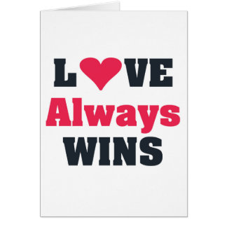 Cartão Do amor vitórias sempre