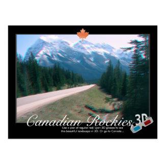 Cartão do Anaglyph de Canadá 3D das montanhas
