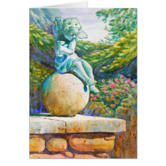Cartão do ângulo do jardim de Botantical