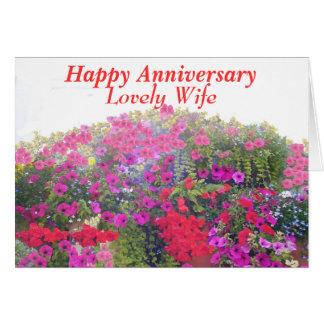 Cartão do aniversário, à esposa, customizável