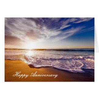 Cartão do aniversário com praia bonita Showerline