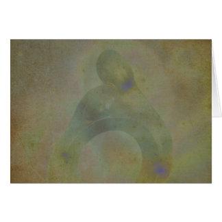 Cartão do aniversário da aura da alma gémea