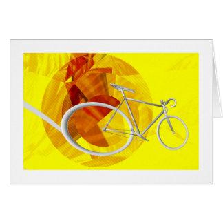 Cartão do aniversário da bicicleta do menino