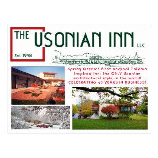 Cartão do aniversário da pensão de Usonian