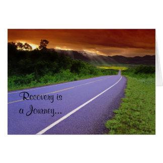 Cartão do aniversário da recuperação