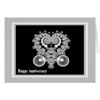 Cartão do aniversário de casamento com coração do