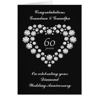 Cartão do aniversário de casamento do diamante -