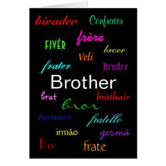 """""""Cartão do aniversário de um irmão"""" - customizável Cartão Comemorativo"""