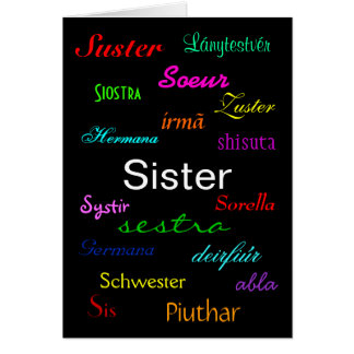 """""""Cartão do aniversário de uma irmã"""" - customizável Cartão Comemorativo"""