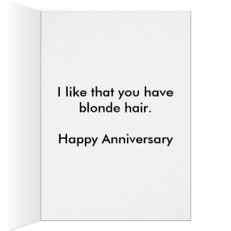 Cartão do aniversário do cabelo louro