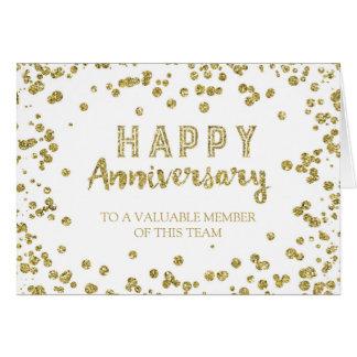 Cartão do aniversário do empregado dos confetes do