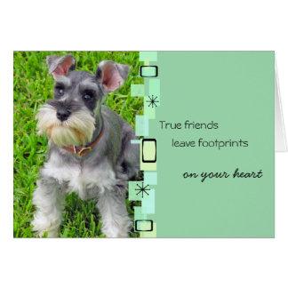 Cartão do aniversário do filhote de cachorro do