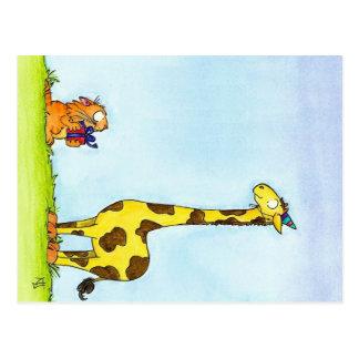 Cartão do ANIVERSÁRIO do GIRAFA por Nicole Janes
