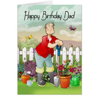 cartão do aniversário do jardineiro do pai