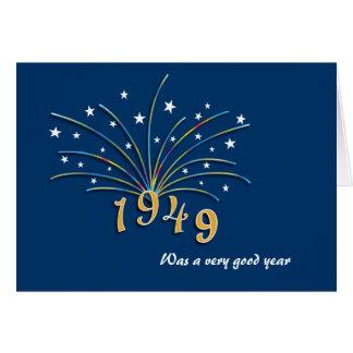 Cartão do aniversário do nascer em 1949