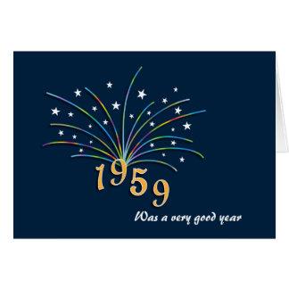 Cartão do aniversário do nascer em 1959