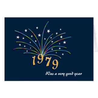 Cartão do aniversário do nascer em 1979
