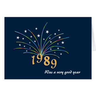 Cartão do aniversário do nascer em 1989