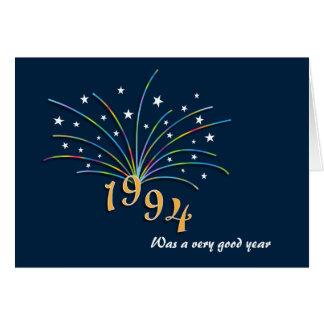 Cartão do aniversário do nascer em 1994