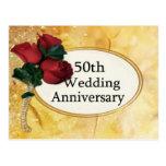 Cartão do aniversário do ouro 50 cartões postais