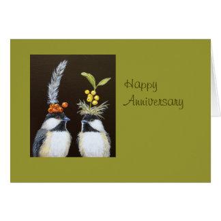 cartão do aniversário do pássaro dtodos nós