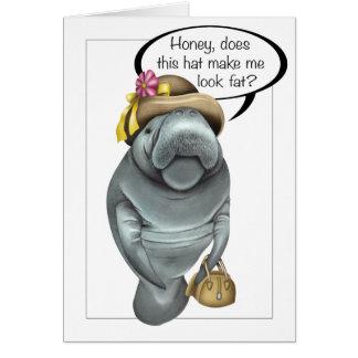 Cartão do aniversário do peixe-boi