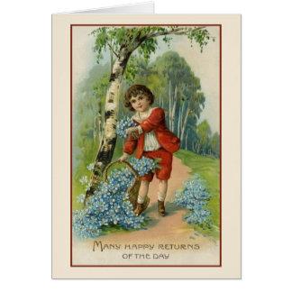 Cartão do aniversário do Victorian
