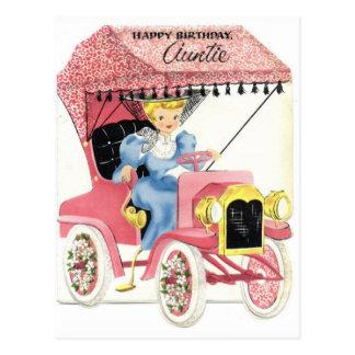 Cartão do aniversário do vintage
