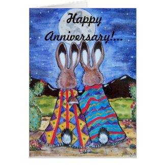 """Cartão do aniversário dos coelhos Snuggle"""" do"""