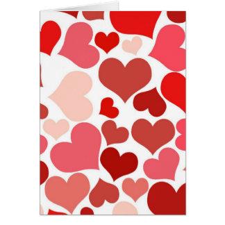 Cartão do aniversário dos corações