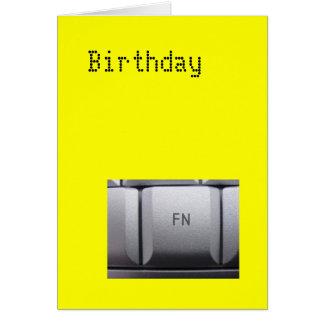 """Cartão do aniversário """"fn"""""""
