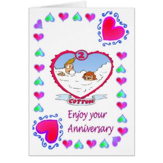 Cartão do aniversário - ò algodão