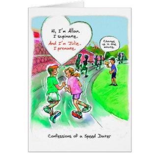 Cartão do aniversário para o corredor - namorando