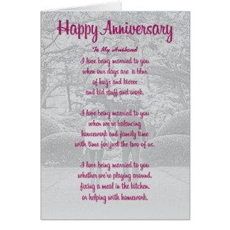 Cartão do aniversário para o esposo
