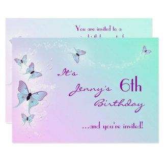 Cartão do aniversário RSVP da borboleta