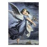 Cartão do anjo com oração