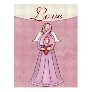 Cartão do anjo D1 da consciência do cancro da mama