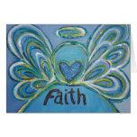 Cartão do anjo da fé