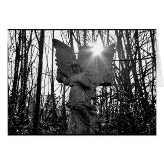 Cartão do anjo da floresta - vazio