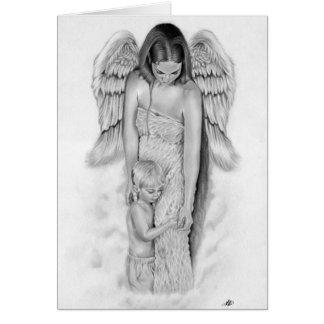 Cartão do anjo-da-guarda