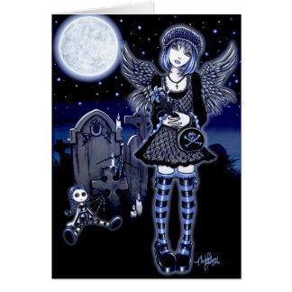 Cartão do anjo da lua azul de Tabitha