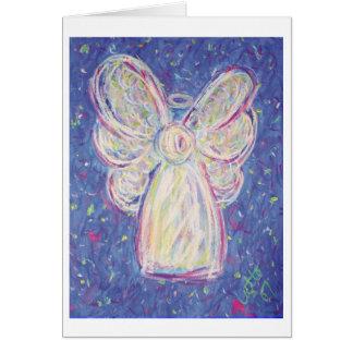 Cartão do anjo da noite estrelado