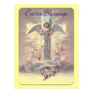 Cartão do anjo da páscoa do vintage