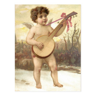 Cartão do anjo do banjo
