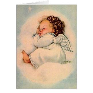 Cartão do anjo do bebê do vintage